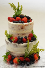 Naked Wedding Cake Fresh Berries Lemoncake Theme Cake