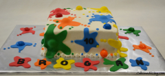 Paintball Splash Theme Cake