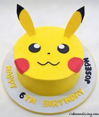 Pokemon Pikachu Theme Cake #pikachucake #pokemoncake #pikachu 01