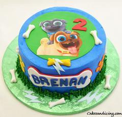 Puppy Dog Pals Birthday Cake #puppylove #puppylife #puppy #puppydogpals #kidsbirthday #kidsbirthdaycake #paws #bones #puppydogpalscake 01