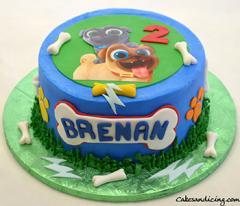 Puppy Dog Pals Birthday Cake #puppylove #puppylife #puppy #puppydogpals #kidsbirthday #kidsbirthdaycake #paws #bones #puppydogpalscake 02