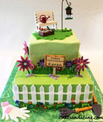 Retirement Gardening Theme Cake