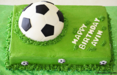 Soccer Ball Theme Cake