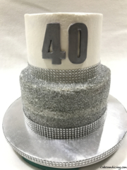 Specal Occasion 40th Bday Shiny And Shimmery Theme Cake 01