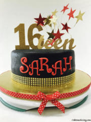 Specal Occasion Sweet 16th Bday Theme Cake 02