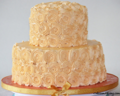 Special Ocassion Wedding Cake Rose Theme