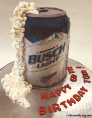 Special Ocassions Buschlight Beer Goodnessinacan Theme Cake