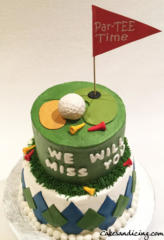 Special Occasion Golf Theme Cake 03