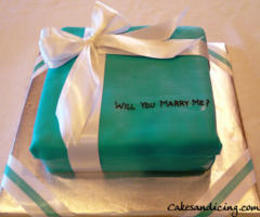 Special Occasions Tiffany Box Theme Cake 09