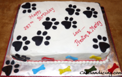 Special Occasions Bday Dog Paws Dogyears Theme Cake 11