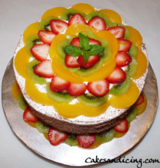 Special Occasions Bday Fruit Theme Cake 06