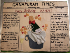 Special Occasions Bday News Paper Theme Cake 006