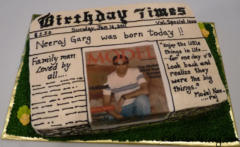 Special Occasions Bday News Paper Theme Cake 17