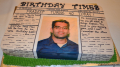 Special Occasions Bday News Paper Theme Cake 21