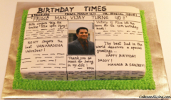 Special Occasions Bday News Paper Theme Cake 41