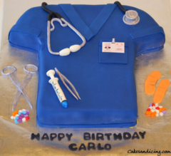 Special Occasions Doctor Theme Cake 02