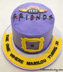 The Classic Friends Theme Cake #friendstvshow #friends #friendstvseries #fondantfriendspeephole #centralperk #theonewhere #chocolatecake 01