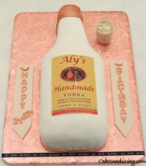 Tito's Vodka Bottle Cake #titoscake #titosvodkacake #titosvodkabottlecake #shotglass #21stbirthdaycake