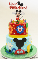 Tree House Mickey Mouse Theme Cake Twodles #mickeymouse #yourtwodles
